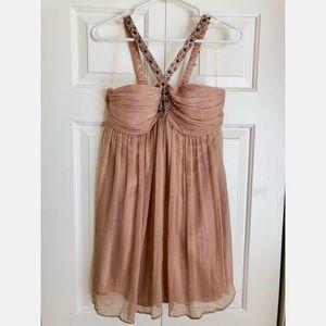 Dress with Rhinestone Strap.